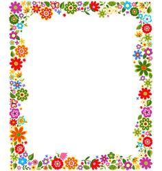Floral border frame background vector 1187522 - by paul_june on VectorStock®
