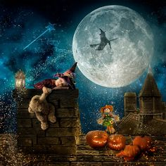 2 Halloween digital backgrounds, Roof chimney 2 versions - Digital Backgrounds and Fine Art - Fairy Magic Chest Halloween Pictures, Halloween 2, Halloween Backdrop, Surreal Artwork, Photography Tools, Digital Backgrounds, Digital Backdrops, Photoshop, Christmas Art