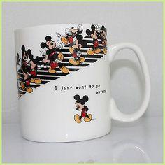 Mickey Mouse Mug Disney Coffee Mugs, Cute Coffee Mugs, Cute Mugs, Funny Mugs, Coffee Cups, Cocina Mickey Mouse, Mickey Mouse Kitchen, Disney Kitchen, Minnie Mouse