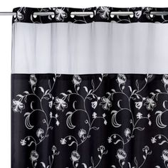 HooklessAR 71 Inch X 74 Fiona Shower Curtain And Liner In Black
