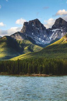 Three Sisters, Alberta, Canada by Drew Hosick
