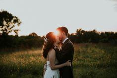Keller's Crossing at Stone Creek. Sunset wedding photos.  Jacoby Photo and Design / St. Louis wedding photography / Makanda Wedding / Lavender Wedding