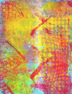 Gelli print on deli paper
