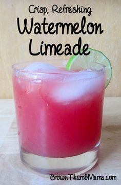 This delicious watermelon limeade is perfect for a picnic--cool, refreshing, and not too sweet.