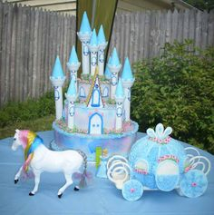 Pixie's Playland!! Cinderella Birthday Party Cake!