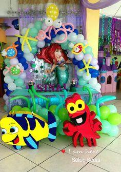 Organizamos tus fiestas del tema que quieras! Hoy toco Sirenita! Decoración única con todo y salón, comida, etc Tel.9357535, 2299018485 sigue nuestras redes sociales