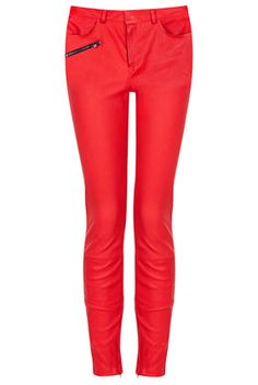 **Stretch Skinny Leather Trousers - The Collection Starring Kate Bosworth   - Clothing#DearTopShop