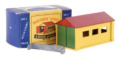 The Ron Calcott Matchbox Collection | Accessory Packs | Vectis Toy Auctions No.A3 Garage