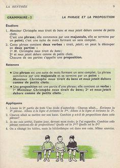 Manuels anciens: 1. La rentrée French Learning Books, La Proposition, Learn French, Memes, Grammar, Vocabulary, Learn To Speak French, Meme, Learning French