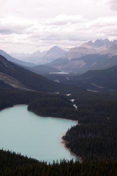 Banff National Park I'm convinced there's nothing more beautiful than mountains and water.
