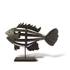 Big Metal Fish Figurine