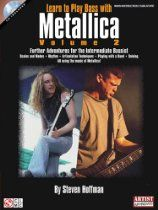 Shop and Buy Learn To Play Bass With Metallica - Volume 2 sheet music. Bass sheet music book by Metallica : Cherry Lane Music at Sheet Music Plus: The World Largest Selection of Sheet Music. Play Guitar Chords, Learn To Play Guitar, Metallica Song, Guitar Books, Guitar Online, Guitar Youtube, Ride The Lightning, Master Of Puppets, Guitar Store