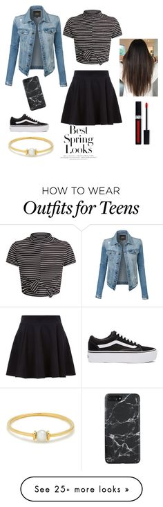 """""""Spring Summer"""" by linehaue on Polyvore featuring Anissa Kermiche, LE3NO, Vans and H&M"""