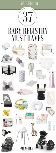 A list of all the items you should add to your baby registry! #babyregistry #babygear #baby