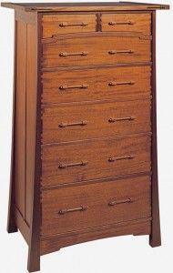 The 'Aurora' dresser picks up a favorite James Krenov element, the dowel and block pull.