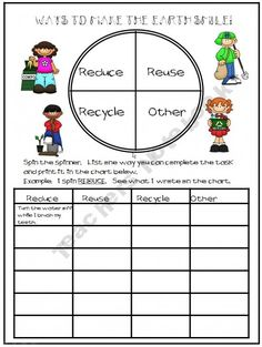 FREE Earth Day Worksheets: Reduce, Reuse, Recycle! - Free ...