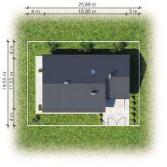 Kos III. Dom parterowy ze strychem i antresolą, z dużą kotłownią - Studio Atrium Kos, Bathroom Lighting, House Plans, Mirror, Action, Studio, Sports, Photos, Home Decor