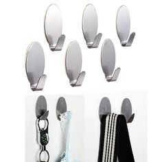 6Pcs Stainless Steel Adhesive Clothes Hook Wall Door Holder Bathroom Towel Hanger   What does include #goodbuy:  Enjoyable shopping at cheapest prices Best quality goods 24/7 support & easy communication 1 day products dispatch from warehouse Fast & reliable shipment (7-25 business...