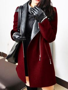 Wool Coat in Oxblood