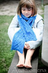 Merlia Scarf pattern by Elena Nodel One size with an adjustable length