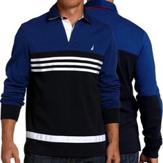 Nautica Men's Big-Tall Long Sleeve Colorblock « Clothing Impulse