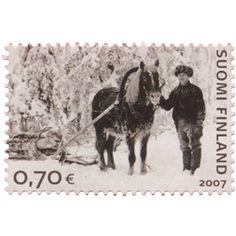 Postimerkki: Muistikuvia Suomesta - Tukkimetsässä | Suomen postimerkit