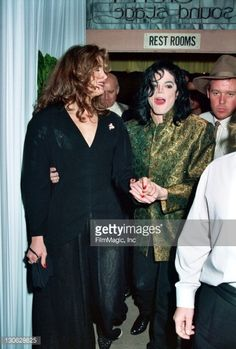 Brooke Shields and Michael Jackson