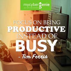 Focus is the key to productivity.