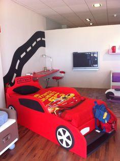 Dormitorio de rayo mcqueen de cars o mcqueen kids bedroom - Dormitorios de cars ...