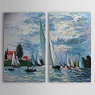 Hånd-malede Landskab To Paneler Canvas Hang-Painted Oliemaleri For Hjem Dekoration – DKK kr. 460