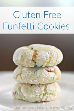 This is my go-to Gluten Free Funfetti Cookie recipe. It's so soft and chewy you would never know it was gluten free.:
