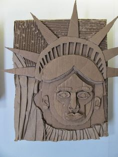 The Visual Arts at Germantown Academy: Cardboard Relief Portraits Sculpture Lessons, Sculpture Projects, Sculpture Ideas, Cardboard Sculpture, Cardboard Crafts, Cardboard Relief, 3d Wall Art, School Art Projects, Middle School Art