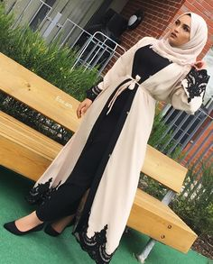 pinterest @adarkurdish Modest Fashion Hijab, Modern Hijab Fashion, Muslim Women Fashion, Hijab Fashion Inspiration, Islamic Fashion, Abaya Fashion, Modest Outfits, Fashion Outfits, Mode Abaya