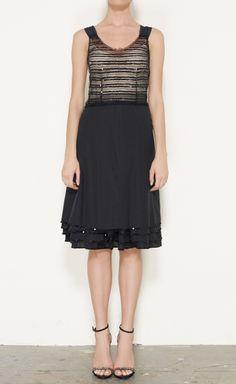 Marc Jacobs Black And Tan Dress
