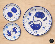 Illustration by Yu Kito Lee: Home Decor: Farm animal plates
