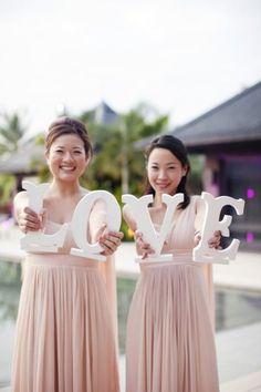 style me pretty - real wedding - thailand - phuket wedding - sava luxury villas - bridesmaids - love