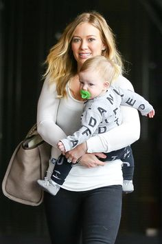 Hilary Duff and Luca make their way to Babies First Class - Part 2