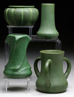 American Arts &Crafts Movement - Matte Green - Pottery - Bungalow