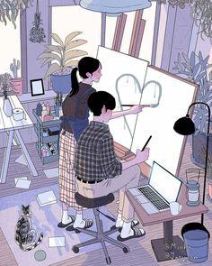 Новости Anime Couples, Couples Comics, Love Art, Couple Cartoon, Manga Couple, Couple Art, Couple Style, Cute Love, Beautiful Love