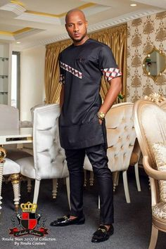 Nigerian label Anuba Couture presents to you its latest menswear fashion offering titled THE ANUBA MAN. Nigerian Men Fashion, African Men Fashion, Africa Fashion, African Fashion Dresses, African Attire, African Wear, African Dress, African Shirts For Men, African Clothing For Men