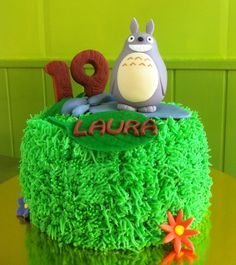 Pastel Totoro de fondant #totoro