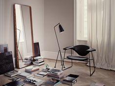 Gubi Adnet Rectangular Mirror by Jacques Adnet - Chaplins