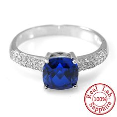 2.32ct Blue Sapphire Ring Pure Solid 925 Sterling Silver  Only $29.99 => Save up to 60% and Free Shipping => Order Now!  #Bracelets #Mystic Topaz #Earrings #Clip Earrings #Emerald #Necklaces #Rings #Stud Earrings  http://www.gemstonese.com/product/2-78ct-blue-sapphire-ring-pure-solid-925-sterling-silver/