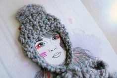Artwork series: friends to keep you warm by the little dröm store, via Flickr