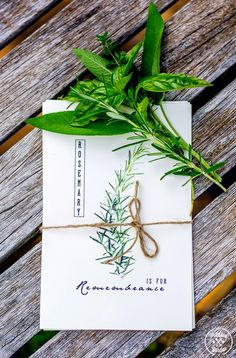 Free Printable Herb Cards. Lovely idea for Mother's Day.