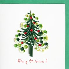 Quilled christmas tree.