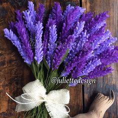 Felt Lavender Lavender Felt Lavender Bouquet Lavender
