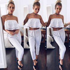 "Mura on Instagram: ""Coastal luxe in the Lost Paradise Crop + Break Free Stripe Pants✨II Get shopping girls!! SHOP NEW ARRIVALS -->…"""