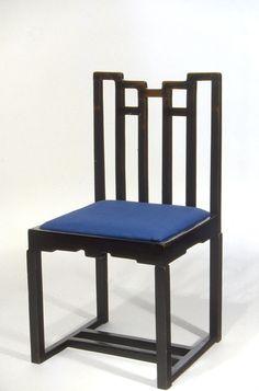 Charles Rennie Mackintosh, Chair designed for the Ingram Street Tea Room, ca. 1911 (Glasgow). Early twentieth-century Chinoiserie.