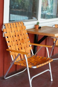 Charmant Love Old Aluminum Garden Furniture And Love This Chair Done With Leather  Webbing / Sfgirlbybay